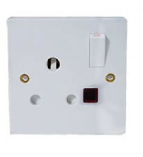 Type M Electrical Receptacle Outlet for India, Africa, & Middle East Panel Mount Switch/Light
