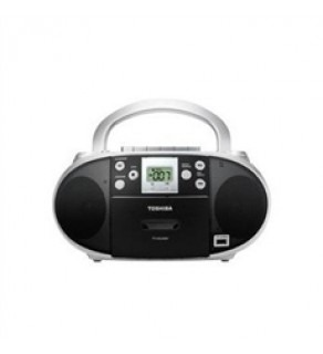 Toshiba Portable CD/USB Radio Cassette Player/Recorder 110-220 Volts