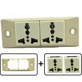 Type A through L Universal Electrical Receptacle Outlet 10 AMPS, With Face Plate