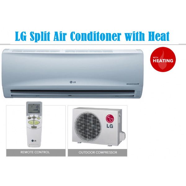 Inline Air Conditioner : Lg btu split air conditioner with heat cool for