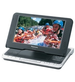 "PANASONIC DVD-LS80 8.5"" PORTABLE CODE FREE DVD PLAYER FOR 110-220 VOLTS"