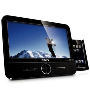 PHILIPS DCP951 9? REGION FREE DVD PLAYER FOR 110-220 VOLTS WITH BUILT-IN IPOD DOCK