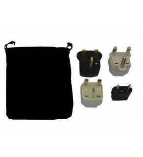 Hong Kong Power Plug Adapters Kit with Travel Carrying Pouch - HK (Default)