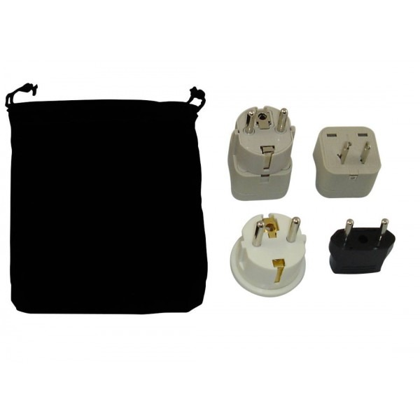 Cambodia Power Plug Adapters Kit With Travel Carrying