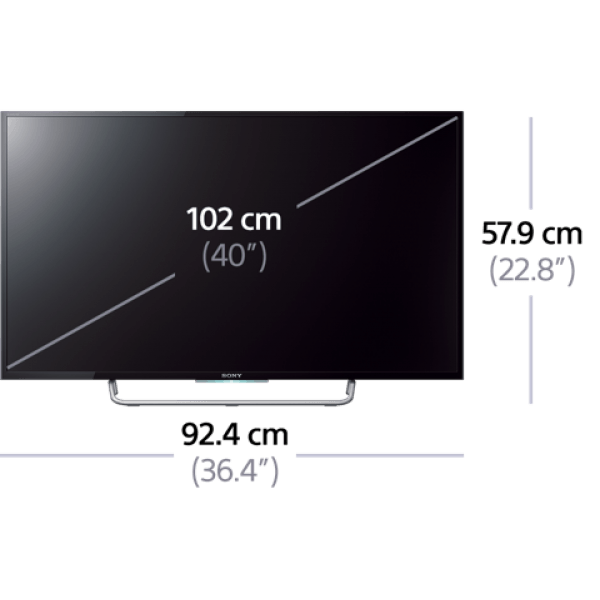 sony kdl 40w700 40 full hd smart wifi led multisystem tv 110 240 volts. Black Bedroom Furniture Sets. Home Design Ideas