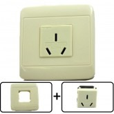 Type I Electrical Receptacle Outlet for Australia & New Zealand, With Cover Plate