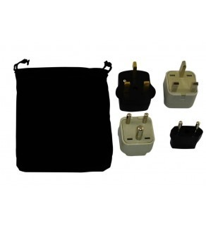 Saint Kitts Power Plug Adapters Kit with Travel Carrying Pouch - KN (Default)