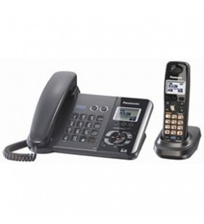 Panasonic KX-TG9391T DECT 6.0 2-Line Black Corded Cordless Telephone