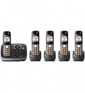 Panasonic KX-TG6545 Dect 6.0 Plus Expandable Digital Cordless Phone System with Caller ID, Answering