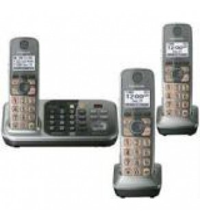 Panasonic KX-TG7743S DECT 6.0 Link-to-Cell Bluetooth Cordless Phone with 3 Handsets FOR 110-220 VOLT