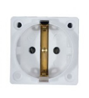 Type C E & F Electrical Receptacle Outlet German Schucko Single Socket Panel Mount White