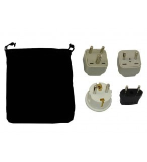 Sri Lanka Power Plug Adapters Kit with Travel Carrying Pouch - LK (Default)