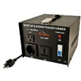 Simran AC-1500, 1500 Watts Step Up and Down Voltage Converter Transformer 110-220 Volts