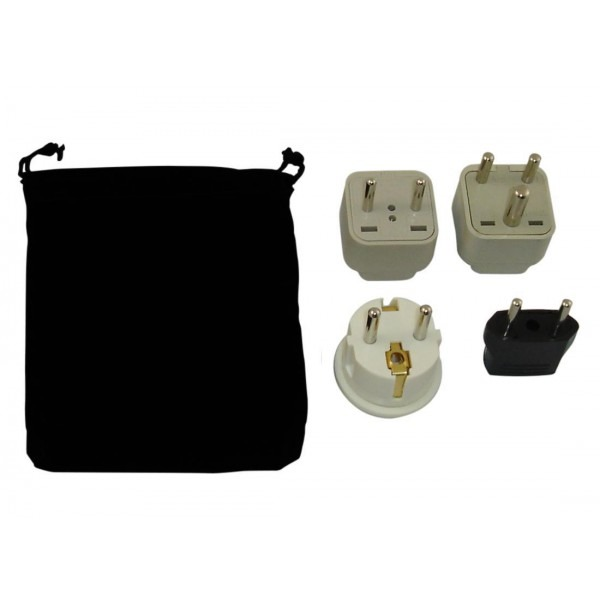 Greece Power Plug Adapters Kit With Travel Carrying Pouch