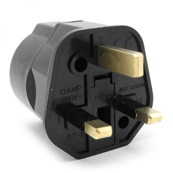European Schuko To Uk Grounded Power Adapter Plug