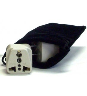 Myanmar Power Plug Adapters Kit with Travel Carrying Pouch