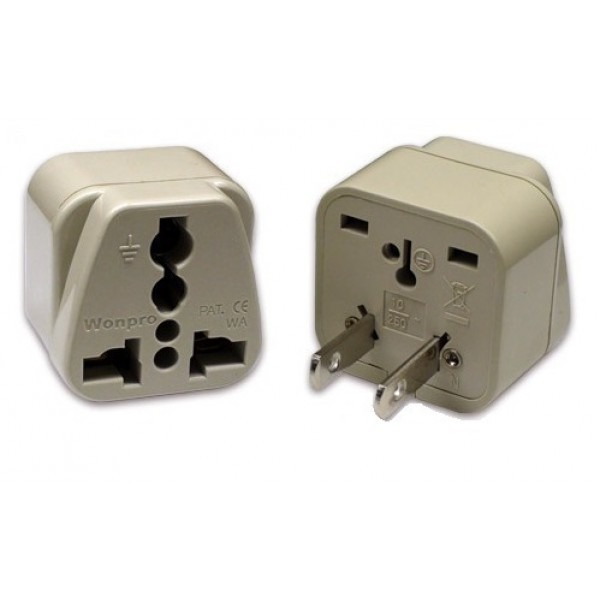 WonPro WA-6 Universal to US Power Plug Adapter, 110220Volts.com