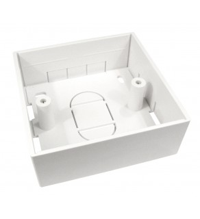 Regvolt White Surface Mount Back Outlet Box 1 Gang