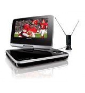 "Philips 7"" PET749 portable DVD player with HDTV Tuner 110 220 Volts"