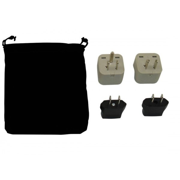Taiwan Power Plug Adapters Kit With Travel Carrying Pouch