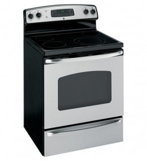 GE 5.3 cu. ft. oven capacity Stainless Steel Electric Range 220 Volts