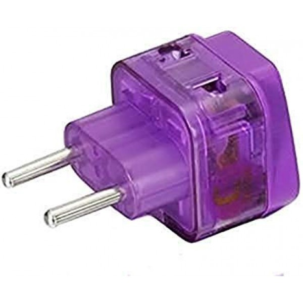 REGVOLT Grounded 3 Prong Plug Adapter Type L 2 in1 Universal Plug Adapter CE Certified RoHS Compliant
