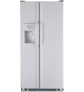 GE 20 Cu.Ft. GSE20JEBFWW Side-By-Side Refrigerator 220 Volts