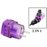 WonPro High Quality Universal to European Grounded Schuko 2 in 1 Travel Power Plug Adapter