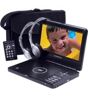 "Audiovox D1998PK 9"" 16:9 Portable DVD Player Kit"