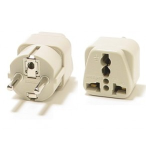 WonPro European Grounded Schuko Power Plug Adapter
