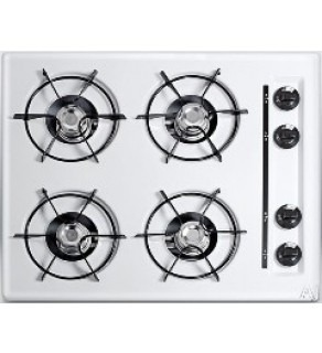 Summit 24 inch ZTL03P gas cook top with start battery ignition 220 volts