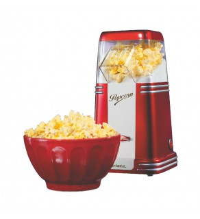 Ariete Party Time Retro Popcorn Maker, 1100 Watts, for 220-240 Volt 50 HZ