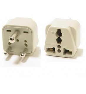 Universal to India Grounded plug adapter