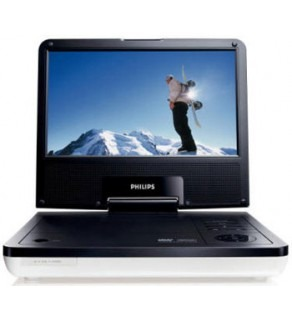 "Philips PET-816 8.5"" Portable Region Free DVD Player FOR 110-220 VOLTS"