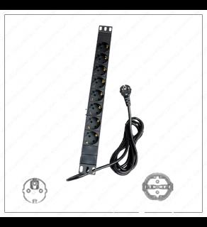 Regvolt Aluminum Alloy Shell Rack-Mount Server PDU Power Distribution Unit Type C, E, F (European Shuko 8 Outlet/16 AMP)