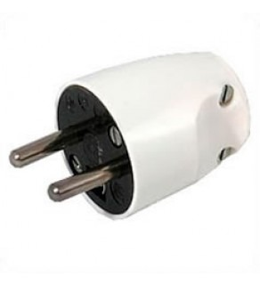 Terminate a Type E Electrical AC 16 Amps Male Power Plug WHITE France CEE7/6