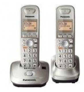 Panasonic Expandable Digital Cordless Phone KXTG4012N with 2 handset. For 110-220 Volts