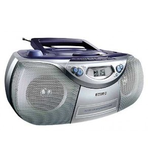 Philips AZ-5160D CD Radio Portable Boom Box with VCD and MP3 capability
