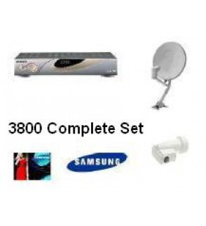 SAMSUNG Free Air Channels Satellite Dish & LNBF, Complete Set