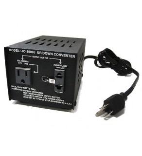 Seven Star JC-200, 200 watt Japan 100 volts step up & down converter transformers
