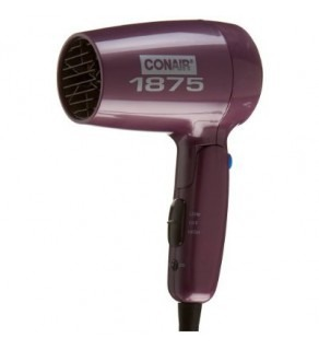 Conair 124LR Folding Handle 1875 Watt Dryer, Purple