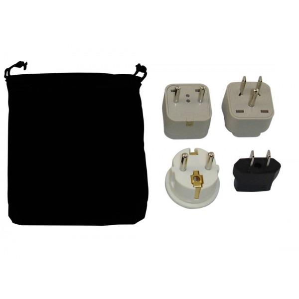Saudi Arabia Power Plug Adapters Kit With Travel Carrying