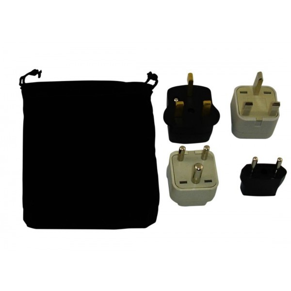 Macau Power Plug Adapters Kit With Travel Carrying Pouch