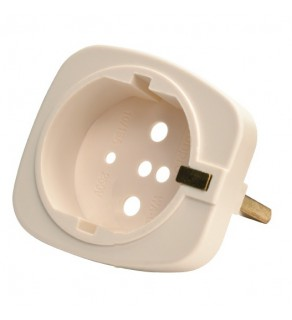 WonPro Universal Schuko Ground Pin  Adapter Provide ground for German and France plugs