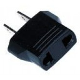 European Foreign Plug to American U.S. ( Flat Pin ) Power Plug Adapter