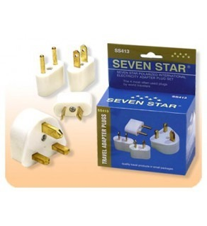 Seven Star Worldwide Travel Adapter Plug Kit