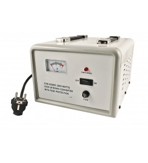 Simran SYM3000, 3000 Watts Step Up & Down Voltage Converter Transformer with Meter 110-220 volts
