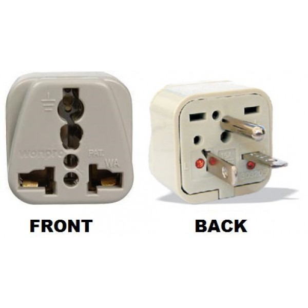 Wonpro Wa 21 Universal To North American Nema 6 20p Grounded Power Plug Adapter 110220volts Com