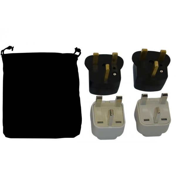 Ireland Power Plug Adapters Kit With Travel Carrying Pouch