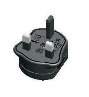 American or European adapted to U.K. Power Plug Adapter, 13A Fuse